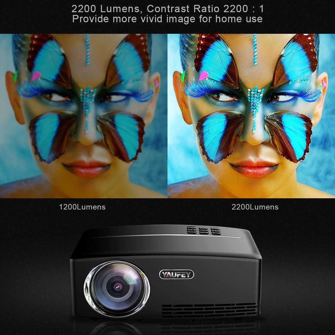 Yaufey Retroprojecteur, Projecteur Mini Vidéoprojecteur HD LED ...