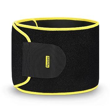 6163ba30b0 Yosoo Waist Trimmer Belt - Neoprene Waist Sweat Band for Slimmer Weight Loss  Belly Fat Burning