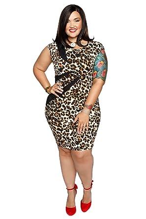 Hadari Womens Plus Size Leopard Print Bodycon Sexy Dress At Amazon