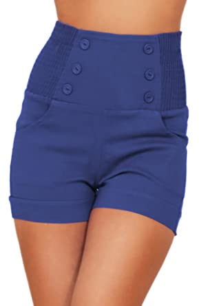 High Waisted Sophisticated Trendy Chic Front Button Vintage ...