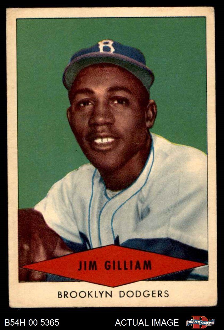 Galleon 1954 Red Heart Jim Gilliam Brooklyn Dodgers