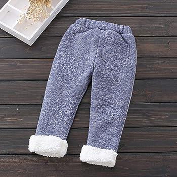 Winter Baby Kids Girls  Fleece Bottoms Leggings Warm Thick Lined Pants Trousers