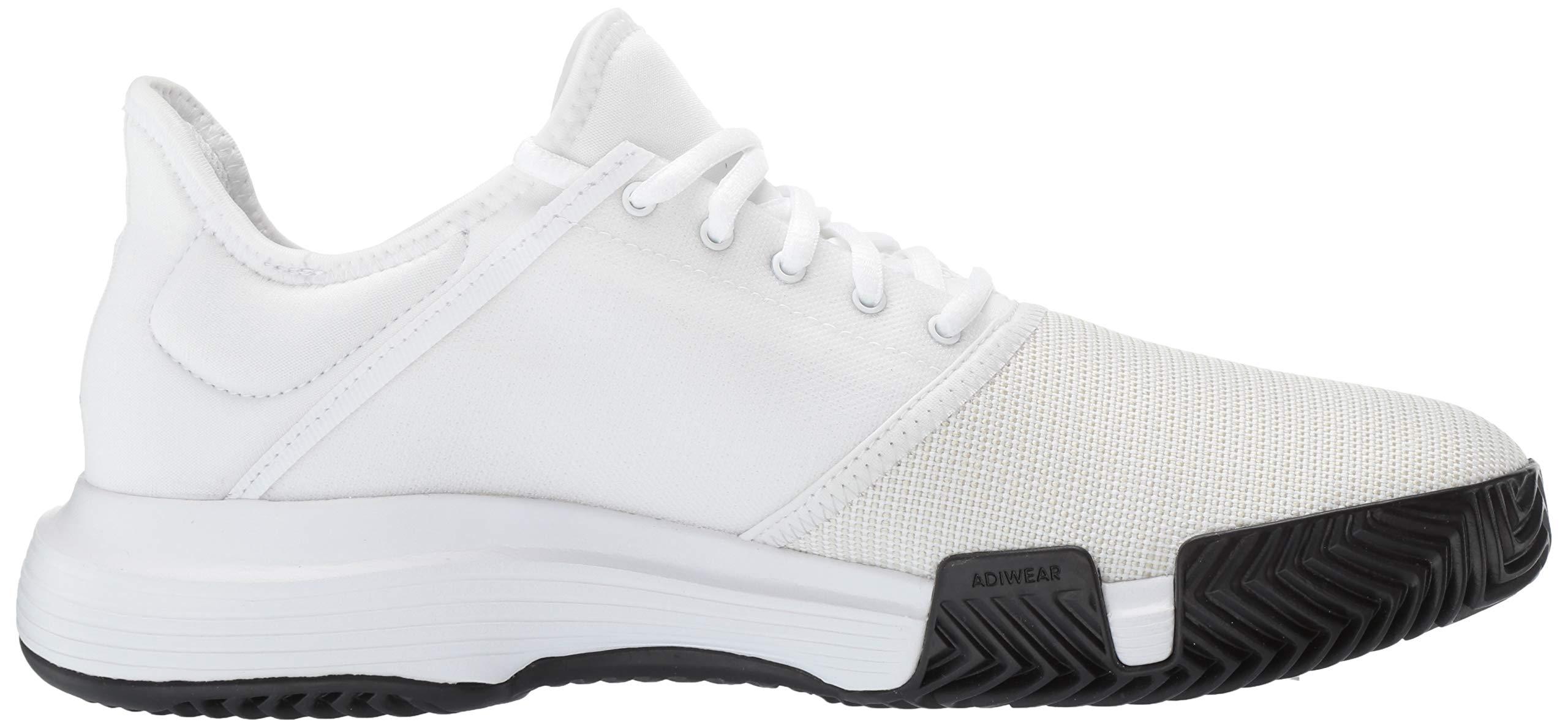adidas Men's Gamecourt, White/Matte Silver/Black, 7.5 M US by adidas (Image #10)