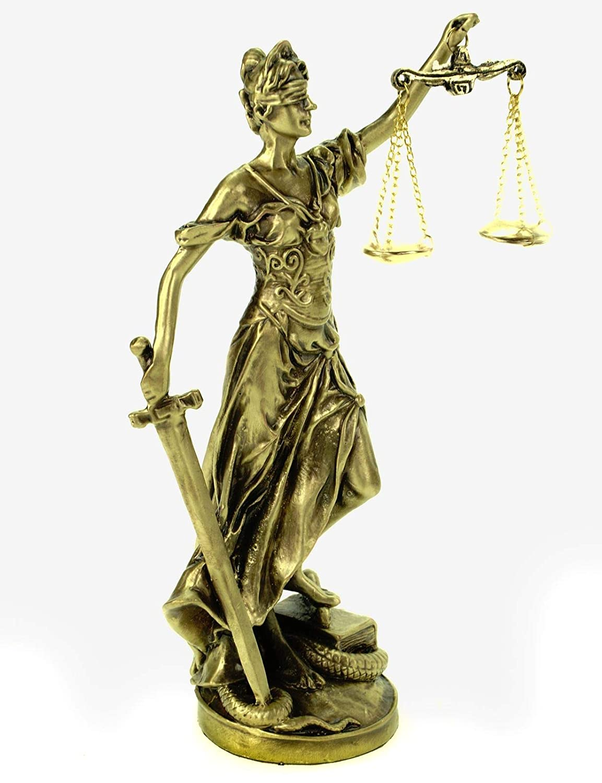 Statuette de la Justice G/öttin de la Justice 20 cm Bronze Sculpture Themis Anwalt BGB