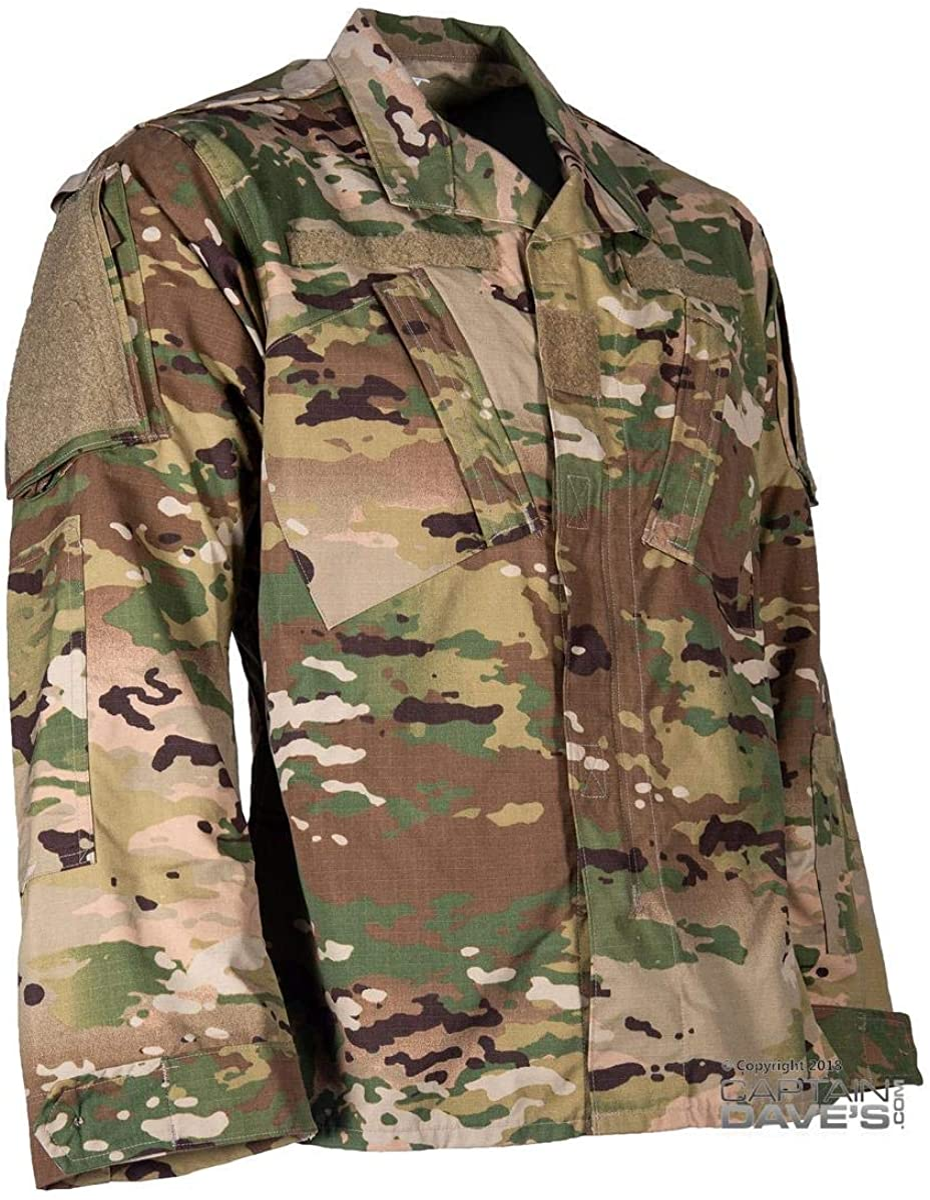 Amazon Com Cds Authentic Army Combat Uniform Coat In Scorpion Ocp Clothing