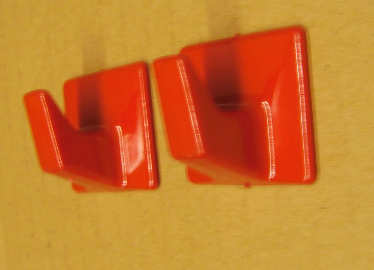 SS52 Small Square Ideal For Tube or Slat Type Blind//Fly Curtain//Strip Blind Self Adhesive Hooks Holland Plastics Original Brand Red