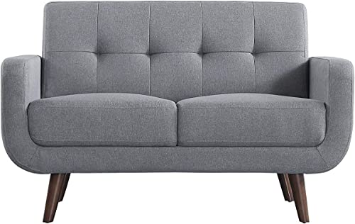 Husbedom Petrichor 51″ W Tufted Loveseat Sofa Couch,Polyester Fabric Upholstered Sofas