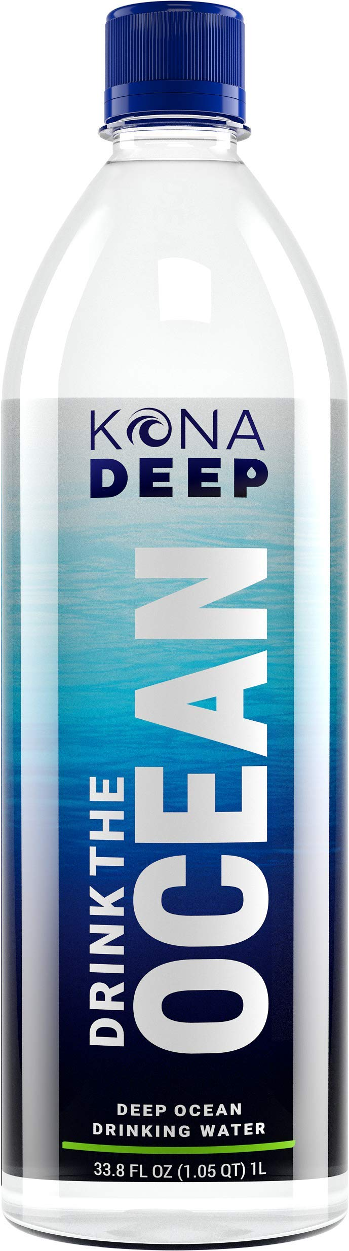 Kona Deep Pure Deep Ocean Electrolyte Mineral Water Bottles (1 L), 12Count by Kona Deep