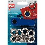 Prym Ösen mit Scheiben + Werkzeug 14mm Durchmesser Silber