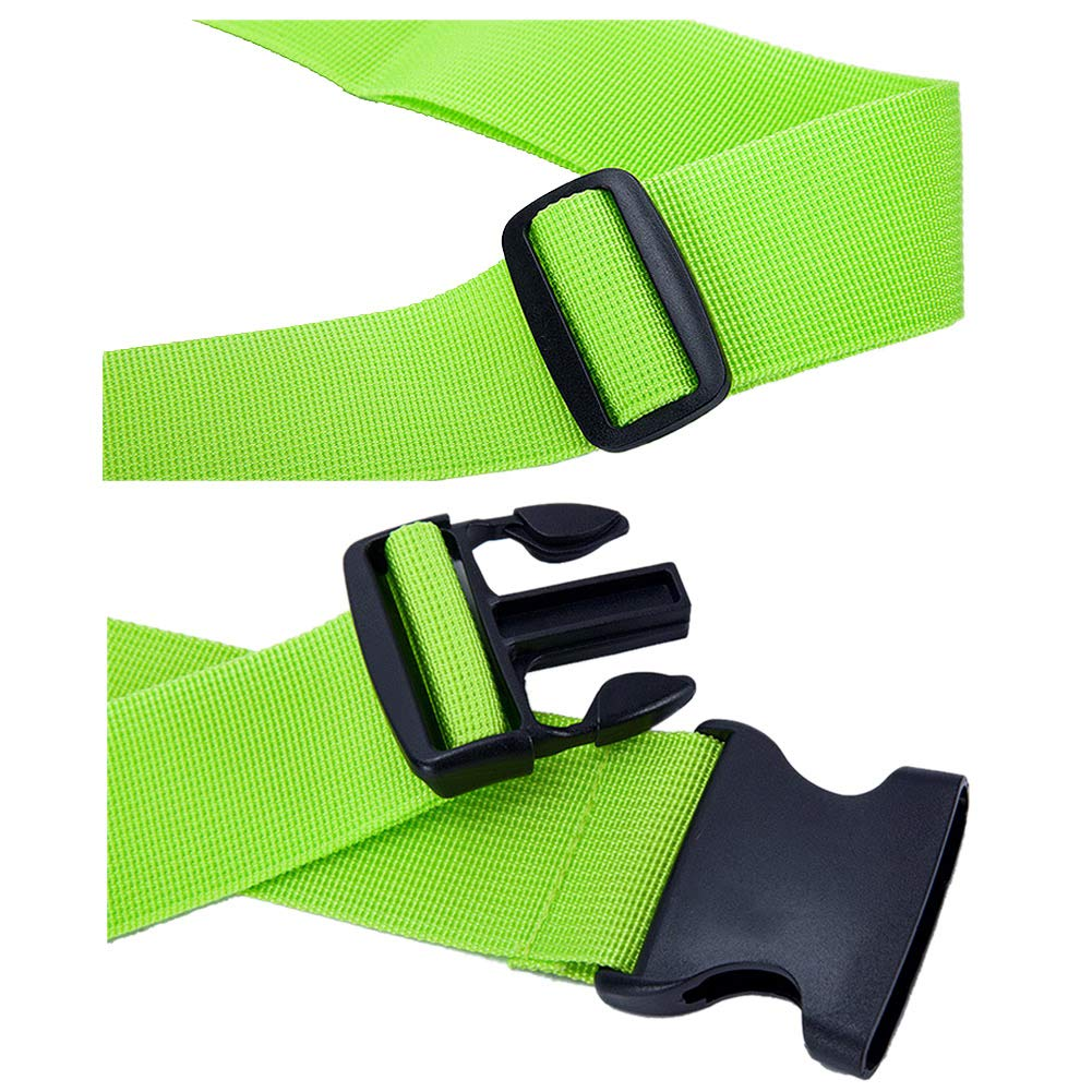 Hibate (2_Green) Luggage Straps Belts and (1_Green) Neoprene Suitcase Handle Wrap Grip Tags by Hibate (Image #4)