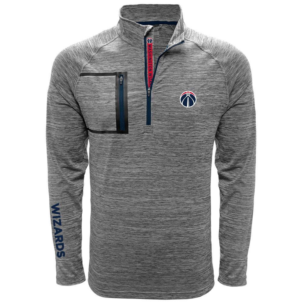 Vault Wordmark Quarter Zipミッドレイヤー B074T8NLQW X-Large|Heather Charcoal/Navy|Washington Wizards Heather Charcoal/Navy X-Large