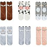 Bestjybt Baby Socks Infant Kids Toddler Socks Knee High Socks Animal Stockings, 6 Pairs