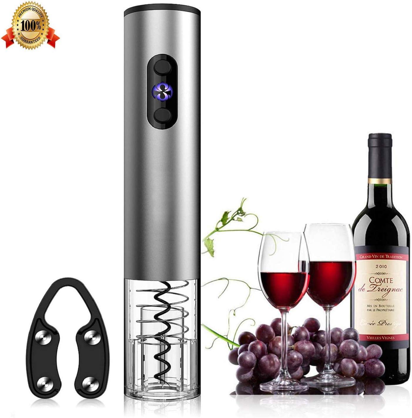 Electric Wine Bottle Opener Auto Cordless Corkscrew Red Wine Cork Remover Opener
