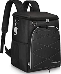SEEHONOR Insulated Cooler Backpack 45 Cans Leakproof Soft Cooler Bag Lightweight Large Capacity Backpack Cooler for Lunch Picnic Fishing Hiking Camping Park Beach