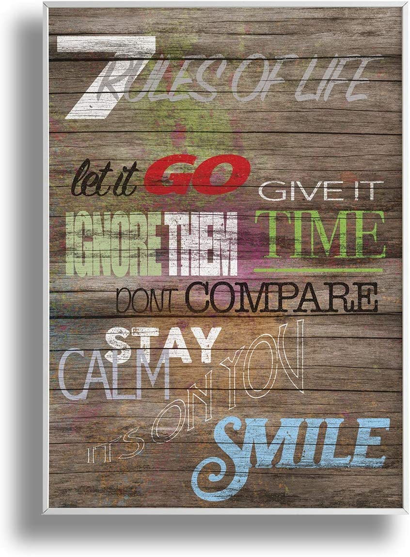 """Premium 7 Rules of Life 18"""" x 24"""" Poster - Inspirational and Motivational Wall Art Decor for Offices, Classrooms, Dorms, Kids Room; Great Gift For Students, Friends and Family With a Mindset for Growth"""