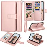 Takfox for iPhone XR Case/iPhone XR Wallet Case PU Leather Mutiple ID Credit Card Slots Holder Folio Flip Cover Kickstand Det