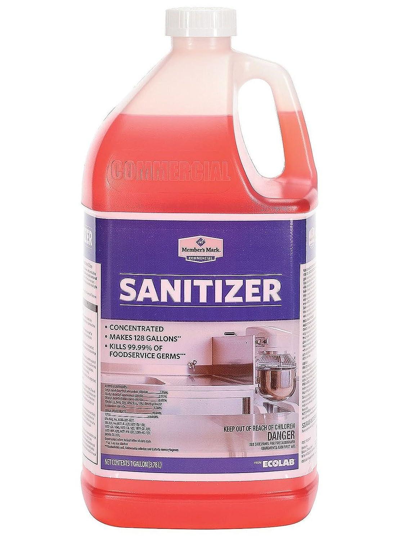 Member 's Mark Commercial Sanitizer (128オンス) Kills 99.99 %のFoodservice Germs (パックof 1 ) B07DGYKJBW