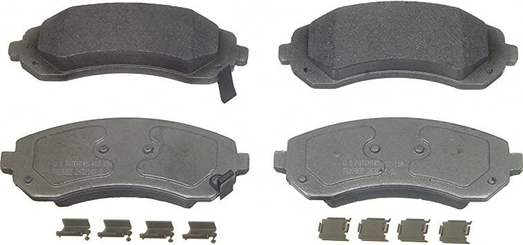 Front Wagner ThermoQuiet MX746 Semi-Metallic Disc Pad Set With Installation Hardware