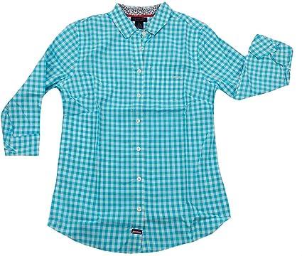 Polo Assn Juniors Long Sleeve Plaid Poplin Woven Shirt U.S