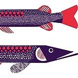 Marimekko finlandaise Marimekko Hauki Étui à rabat pour poissons de luxe Traditionnel Lot de 20serviettes de table papier