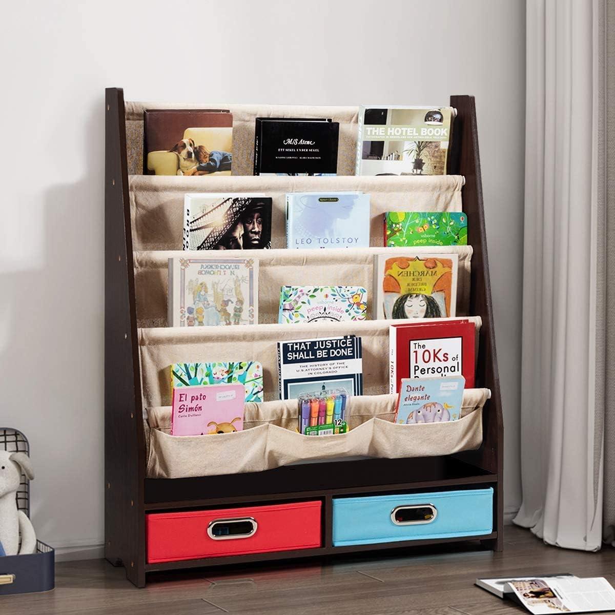Costzon 2 Kid Bookshelf
