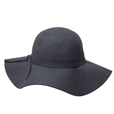 7401de1e Women's Vintage Inspired Gray Wool Floppy Winter Hat at Amazon Women's  Clothing store: