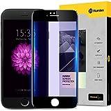 【Humixx】iPhone6s ガラスフィルム, iPhone6 ガラスフィルム, ブルーライトカット フルカバー 9H硬度 0.3mm薄さ 指紋防止 気泡防止 (iPhone6/6s液晶保護フィルム, ブラック)[LG Series]
