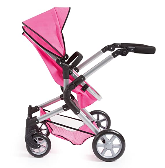 Amazon.com: Bayer Design 18129AA Dolls Pram City Neo with Changing Bag and Underneath Shopping Basket Convertable to A Pushchair, Pink: Toys & Games