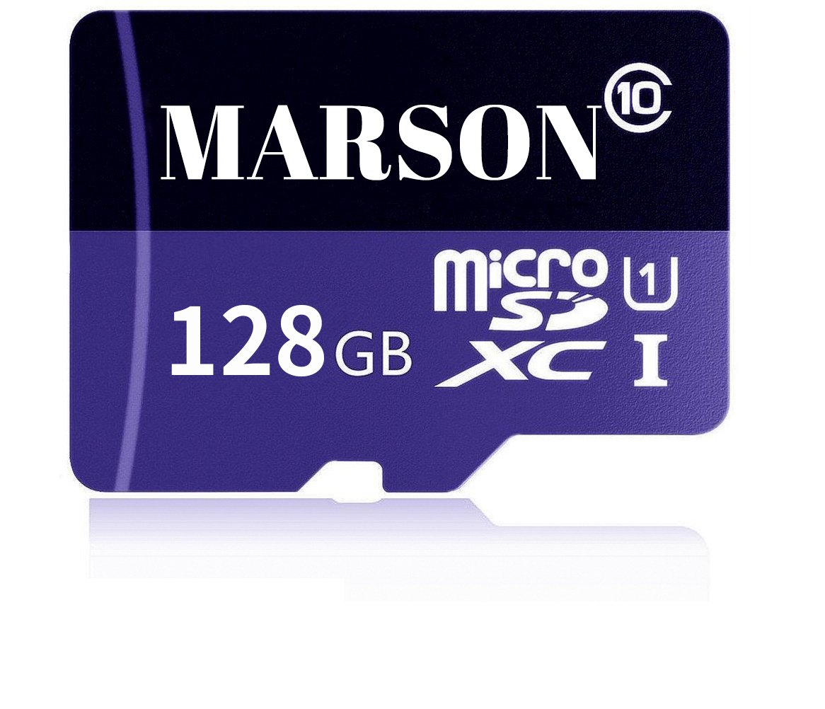 MARSON 128GB Micro SD Card High Speed Class 10 Micro SD SDXC Memory Card With Adapter