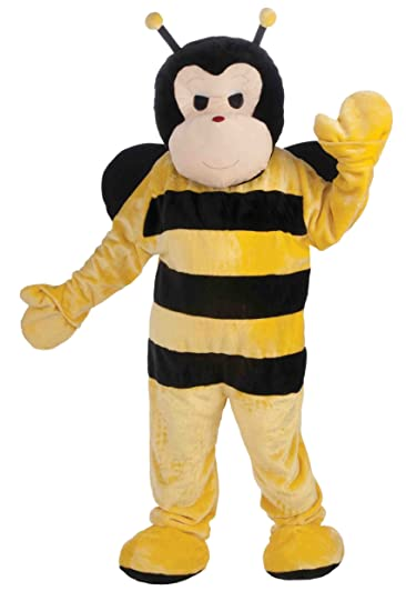 68fac64bd Amazon.com: Forum Deluxe Plush Bee Mascot Costume, Yellow, One Size ...