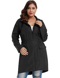 a9d3cc872b8 Hanna Nikole Women Plus Size Lightweight Raincoat Travel Hoodie Rain Jacket  HN0037