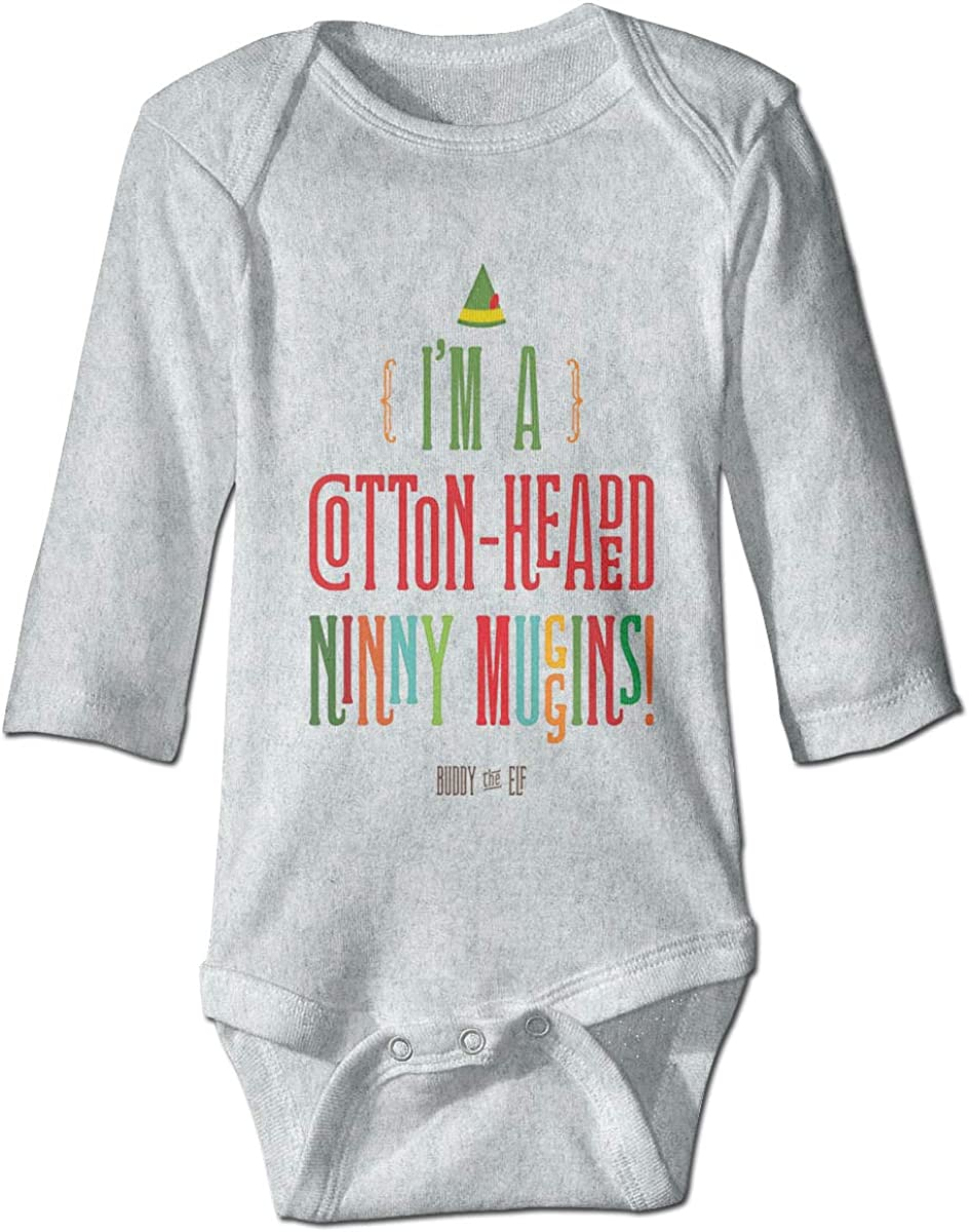 Marsherun Babys Boys Girls Im A Cotton-Headed Ninny Muggins Long-Sleeve Rompers Playsuits