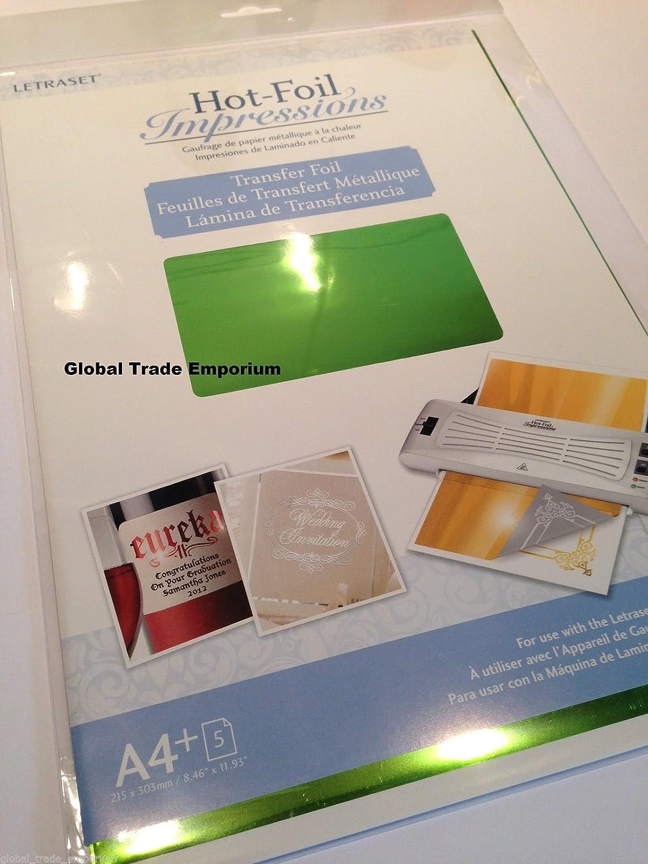 Laser transfer foil for laser printers 11 Metallic Colours for hot foiling