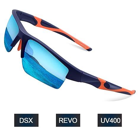 Elegear Gafas de Sol Deportivas Hombre PC 2018 Anti Rayos UVA UV Marco PC Lente con REVO Anti Aceite Gafas Hombre y Mujer Bici Running Coche MTB Moto ...