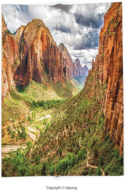 Manta con Estampado Personalizado con Parques Nacionales Decor Utah Plateau Mojave Desert Southwest Erosion Navajo Artprint marrón, Verde, Super Suave y acogedora Manta de Forro Polar: Amazon.es: Hogar
