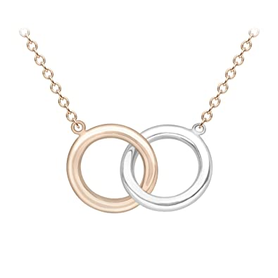 Carissima Gold 9ct 2 Colour Gold Knot Necklace of 45.72cm 7eHtI