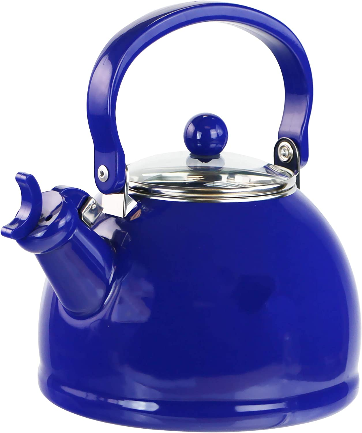 Reston Lloyd 2 Quart Enamel, Teakettle, Whistling kettle, Tea Pot, Indigo
