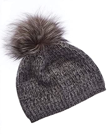 1e53d4ac2 Portolano Womens Cashmere Hat with Pom at Amazon Women's Clothing store: