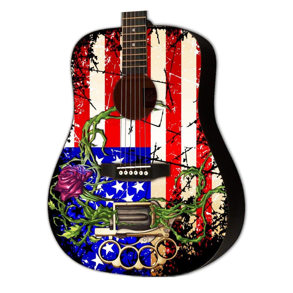 Graphic Acoustic Guitar VIRAL AMERICA Design
