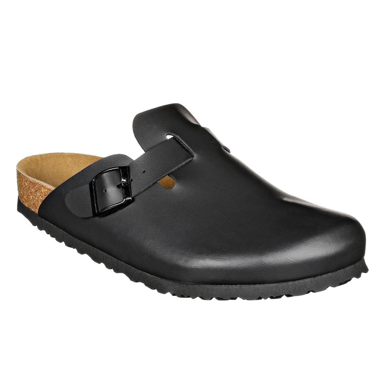 JOE N JOYCE Soft Slippers Clogs Shoes Leatherette Regular - Mens and Womens Black 45 EU