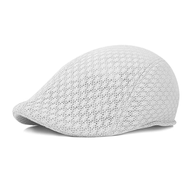 af23e9d532c6d kwanchan Duck Mesh Summer Gatsby Cap Mens Ivy Hat Golf Driving Sun Flat  Cabbie Newsboy (