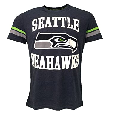 NFL Seattle Seahawks T-shirt Blue Official Licensed Sport  Amazon.co.uk   Clothing 4c57efcce