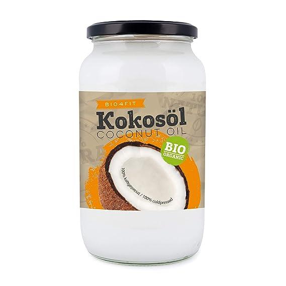 aceite de coco orgánico Bio4Fit, nativo, 1 paquete (1 x 1000 ml)