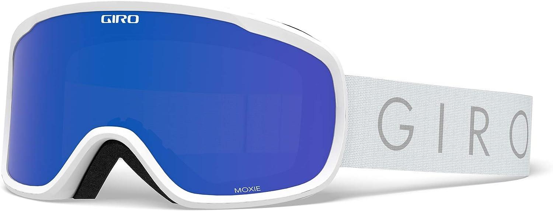 Giro Moxie Womens Snow Goggles - White Core Light Strap with Grey Cobalt/Yellow Lenses (2020)