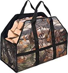 YOLER Heavy Duty Durable Firewood Carrier Log Carrier Tote Bag for Fireplace /& Wood Stoves
