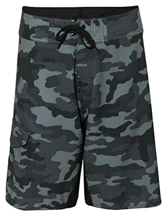 f309f03885 Amazon.com: Burnside Mens Camo-Diamond Dobby Board Shorts-B9371: Clothing