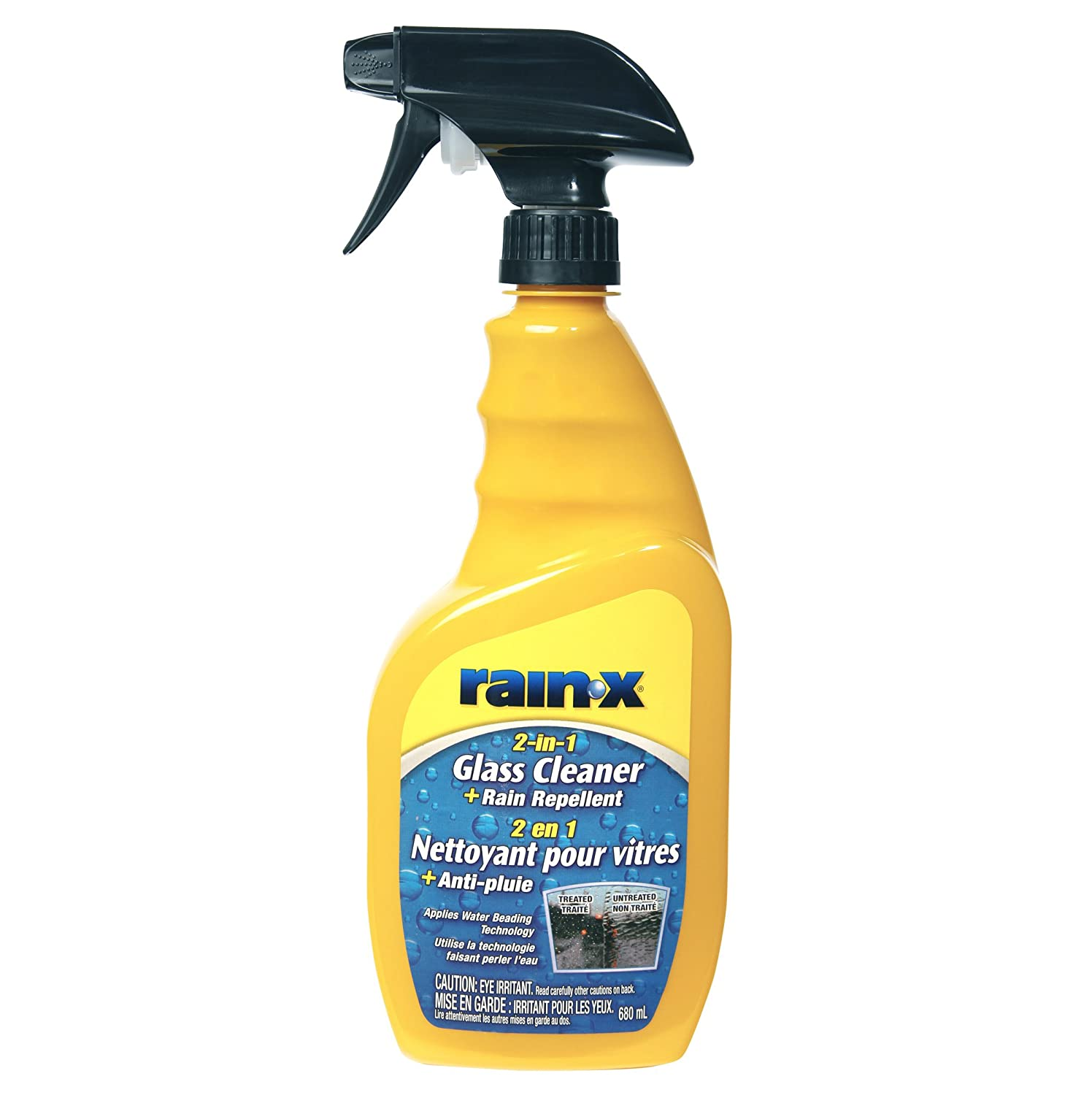 Rain-X 5076784 2-In-1 Glass Cleaner/Repellent, 680ML