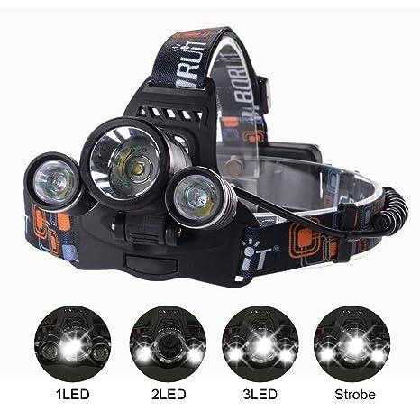 CREE de XM de Frontal T6 LED Lampara aire para Otros al 900 3 Lumen Cabeza AcamparViajarSenderismoPescaCiclismo y Linterna L ThorFire Deportes N0Ovm8nw