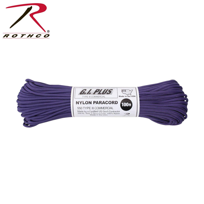 Purple 550LB Nylon Type III Paracord Rope 100 FEET