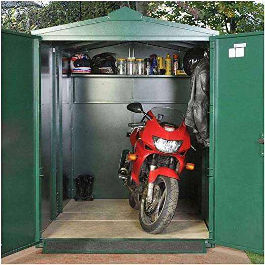 Asgard 9x5 Centurion Secure Motorcycle Storage Shed Brown Amazon Co Uk Garden Outdoors